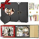 SPECOOL Créez Votre Album Photo d'art, Album Photo Scrapbooking A4 avec Accessoires Cadeau Parfait pour Anniversaire, Mariage, Noël, Amusant Bricolage Arts et Ensemble d'artisanat