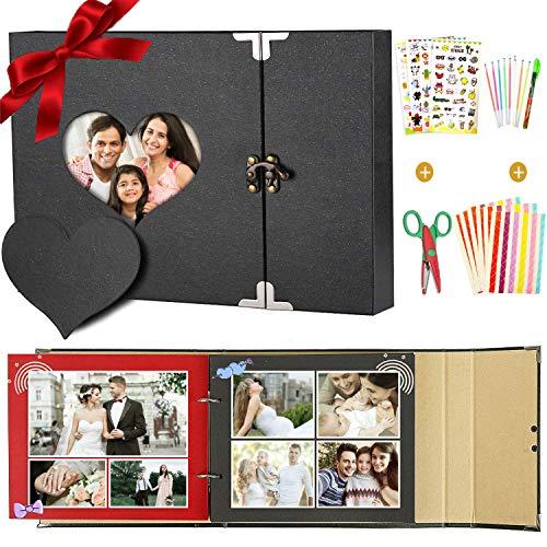 Spectool Fotoalbum om zelf vorm te geven, zwarte bladzijden om in te plakken, fotoalbums voor bruiloften, scrapbook, doe-het-zelf fotoalbum, voor kinderen en familie, Kerstmis, Valentijnsdag, verjaardag