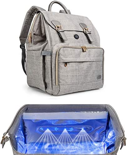 Oopsababy Diaper Bag Backpack with Cleaning Lights connect to juice pack or wall adapter Designer product image