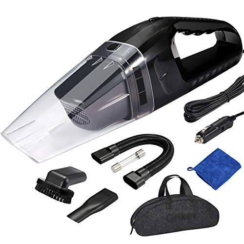 TGhosts Aspirador portátil del automóvil, aspiradora de automóviles para automóvil portátil aspiradora portátil 12V 120W Mini Coche aspiradora