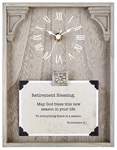 CB Gift Heartfelt Collection Framed Table Clock with Sentiment, 7' x 9', Retirement -Ecclesiastes 3:1