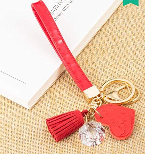 Sleutelhanger met diamantkwast, hanger, auto, leuke rugzak voor dames, sleutelring, handtas, multifunctioneel, autosleutelhanger