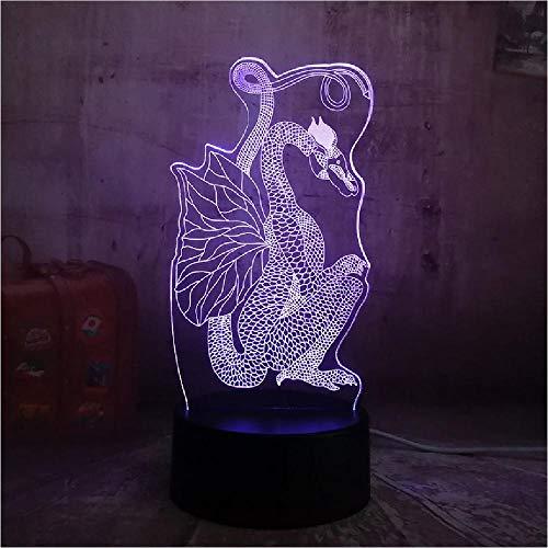 Chinesischen Stil Scherenschnitt Drache 3D Nachtlicht 16 Millionen Farben ändern LED Tischlampe Weihnachtsgeschenk alten Drachen Kunst Dekor Lampe Handy Bluetooth App Steuerschalter
