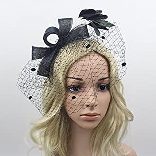 Olici Headdress Accessories/Hair Pins/Party/Prom/Bride/Girls Feather Clips Veil And Flower Covered His Face Ms Hair Ornaments