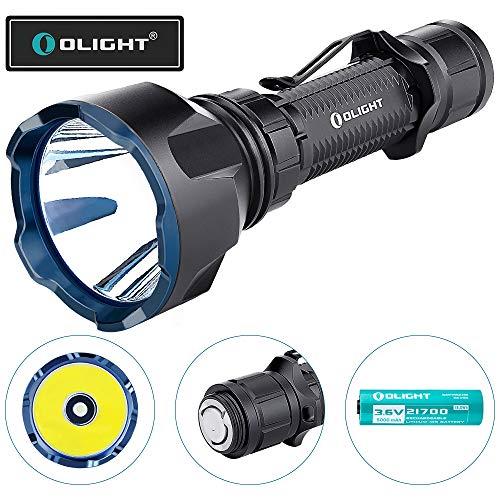 OLIGHT Warrior X Turbo LED Taschenlampe 1100 Lumen, 1000 Meter Leuchtweite, Taktische Taschenlampen, Wiederaufladbare Taschenlampe mit MCC3 Magnetladekabel, 5000mAh 21700 Batterie enthalten