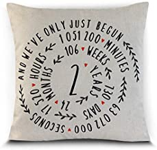 Petite Lili 2 Years Cushion Cover for Couples Cotton(Cover Only)
