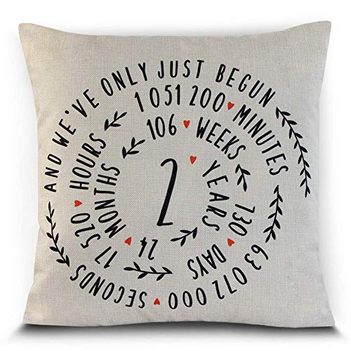 Petite Lili - 2 Years Throw Pillowcase Cushion Cover - Cotton...