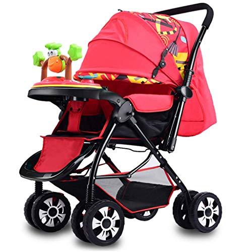 XHCP Kinderwagen für Babys, leichte kompakte Klappkinderwagen, von der Geburt bis 25 kg, mit Liegeposition, Jogger Zwei-Wege-Reise-Neugeborenen-Kinderwagen, mit Kind