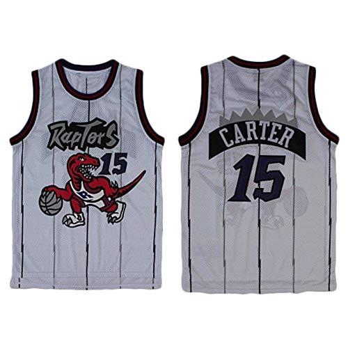TPPHD Jerseys de Baloncesto para Hombres, Raptors de la NBA No.15 Carter Classic Swingman Jersey, Tejido Fresco de la Vendimia Tela Transpirable All-Star Uniforme Uniforme,2,M