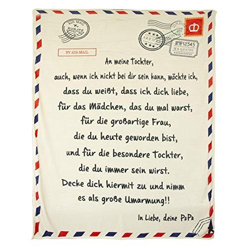 Decke Zu Meiner Tochter Sohn, Brief Gedruckt Decken Geschenke Für Weihnachten Geburtstag Graduierung (59''×78', Zu meiner Tochter von Papa)