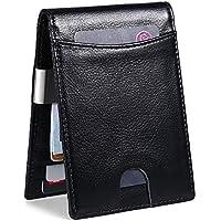 Mokzer Mens RFID Slim Bifold Leather Wallets