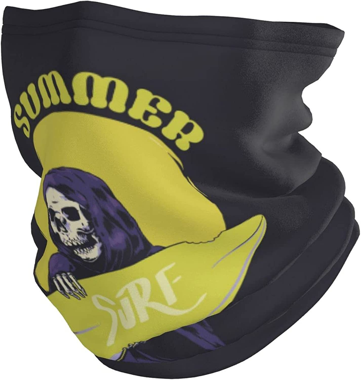 Adult Warmer Multifunctional Headwear Bandana Dabbing Unicorn Design Neck Gaiter for Men & Women