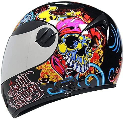 Motorbike Helmet Casco de motocicleta Bluetooth Cascos abatibles Cascos integrales para hombre Cascos abiertos de material ABS Casco de motocicleta de cara completa / abierta con tapa modular para mot