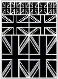 Biomar Labs® 10 x Vinyl Aufkleber Autoaufkleber Stickers Set Auto Moto Motorrad Fahrrad Scooter Fenster Fahne Flagge England UK GB United Kingdom Großbritannien Union Jack Silber D 68