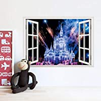 UYEDSRウォールステッカー3Dサンセット風景画ウォールステッカーリビングルーム寝室家の装飾現代美術壁画静物画A
