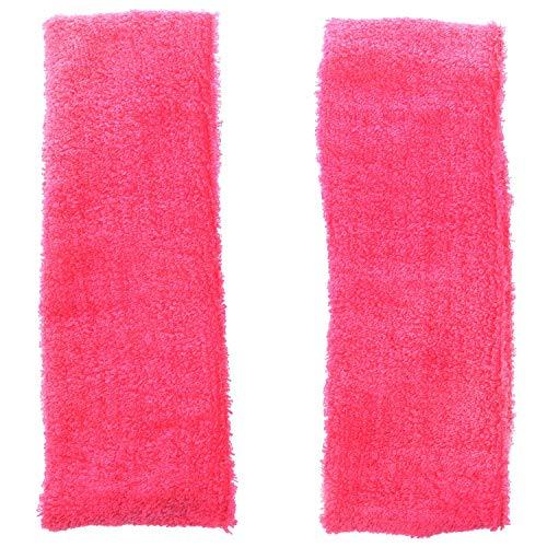 CUHAWUDBA Lady Face Lavage Douche Ruban elastique Bandeau Rose rouge 2 Pcs