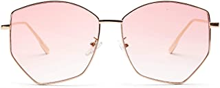 Sunglasses Fashion Accessories UV Sunglasses Multilateral Irregular Diamond Transparent Colored Lenses (Color : Pink)