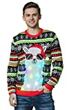 Lustiger LED Weihnachtspullover Lama