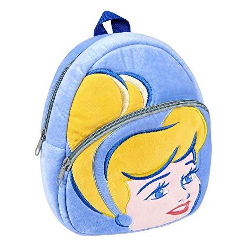 ARTESANIA CERDA Mochila Guarderia Personaje Princess Cenicienta, Color Azul, 22 cm