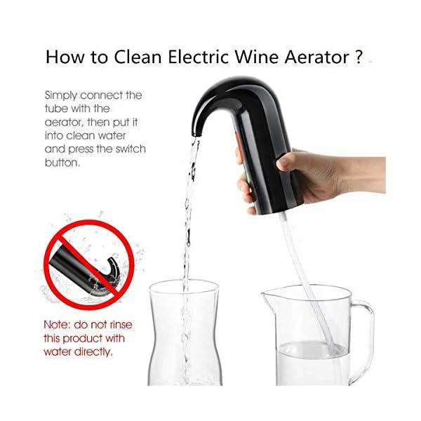 Aireador de vino eléctrico portátil, decantador de vino instantáneo,