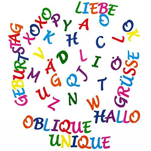 Oblique-Unique ABC Alphabet Sticker 212 Buchstaben Set Aufkleber Kinder Lernen mit Umlauten