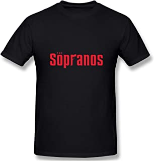 Senzioods-Fashion Men's The Sopranos Classic T Shirt Black with Casual Short Sleeves