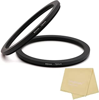 82 to 72mm Metal Step Rings with Lens Cleaning Cloth, 82mm to 72mm Step Down Ring Filter Ring Adapter for 82mm Camera Lens...