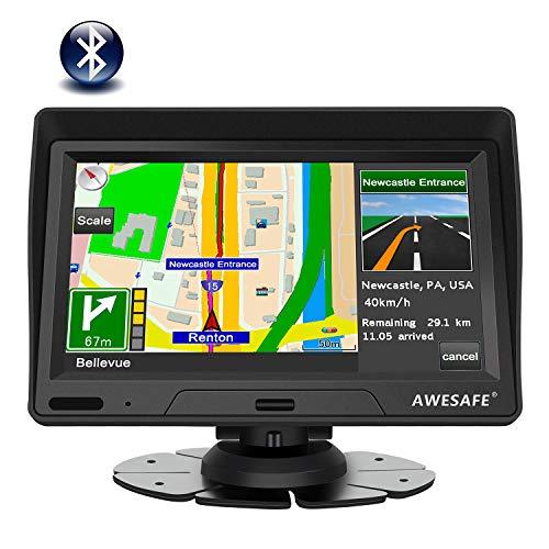 Navigationsgerät für Auto und LKW, 17,8 cm (7 Zoll), Bluetooth, LCD-Display, mit Kartenupdates für das ganze Leben