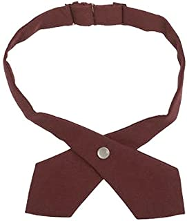 French Toast Girls Adjustable Solid Color Cross Tie