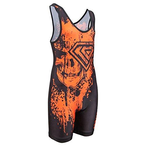 KO Sports Gear Classic Black Wrestling Singlet