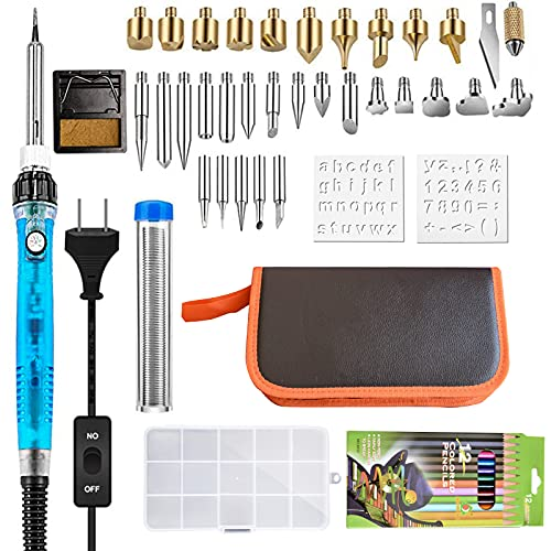 Wood Burning Kit, Vilitasnas 52 in 1 Adjustable Wood Burner Temperature with Soldering Iron Pyrography Pen, Wood Burning Tool Kit for Beginners, Professional, Adults Hobbycraft