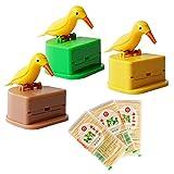 3 Pack Toothpick Dispensador Pájaros Caja de Palillos de Dientes Palillero Automática y 600 piezas de Palillos de Madera de Bambú Limpiar Los Dientes Para Cocina Casera y Sostener Pequeños Aperitivos