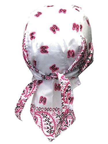 armardi b Bandana casquette Old School Rose Blanc Noir