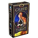 GRXIN Das Vergoldete Tarot 78 Karten Deckund Elektronischer Reiseführer Brettspiel Oracle Cardtarot Karten Tarotkarten Divination Fateboard Spiel Solitaire Spiel