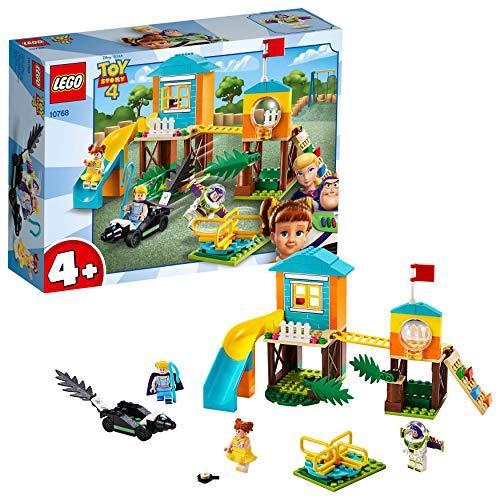 LEGO 4+ Aventura en el Parque de Juegos de Buzz y Bo Peep, Juguete de Construcción de Toy Story 4, Incluye Tobogán y Minifigura de Buzz Lightyear (10768)