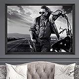 Aishangjia Sons of Anarchy Poster Serie de televisión Pintura en Lienzo Impresiones artísticas Cuadros de Pared para la Sala de Estar Decoración del hogar 50x70 cm J-5480