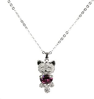 Cat Necklace Silver Necklace Chain With cat pendant angle necklace butterfly necklace for Christmas gift Cheap Jewelry
