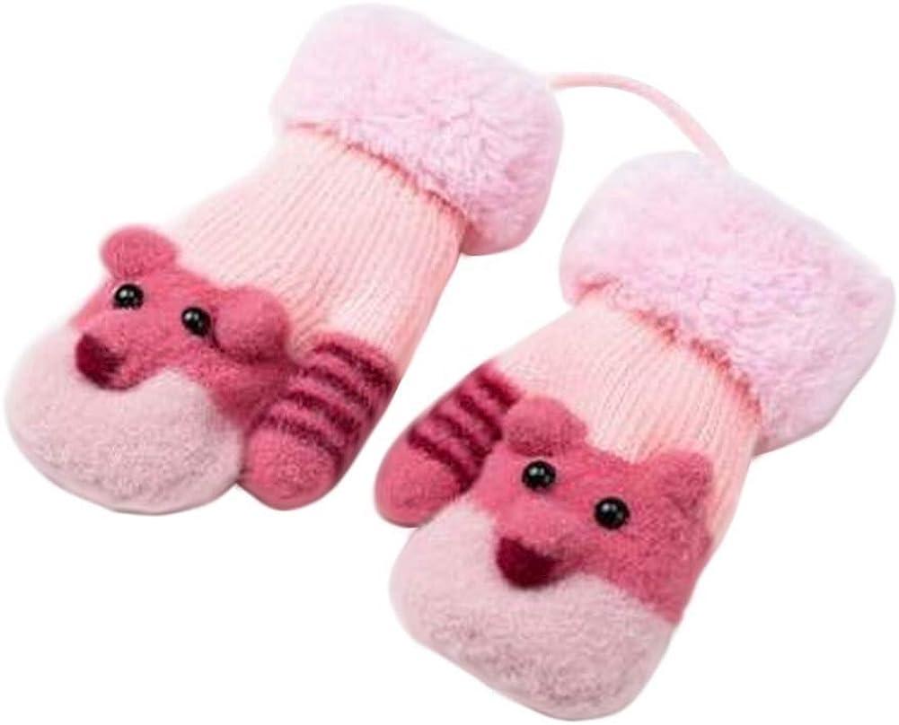 Lovely Knitted Baby Mittens Warm Winter Children Mittens Baby Gloves #07