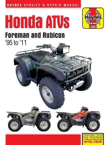 Honda ATVs Foreman and Rubicon  95 to  11 (Haynes Service & Repair Manual)