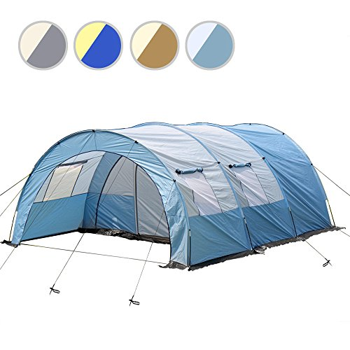 Jago Tenda da campeggio camping tenda tunnel ca. 335/476/190 cm colore a scelta