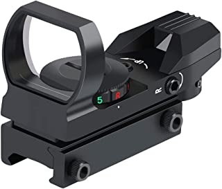 Feyachi Reflex Sight – Adjustable Reticle (4 Styles) Both Red and Green in one Sight!