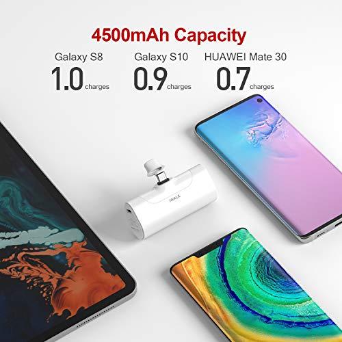 iWALK USB C Powerbank, 4500mAh Tragbares Externes Ladegerät, Typ C Externer Akku Kompatibel mit Samsung Galaxy Note20 Ultra, Z Fold2, S20/S10/S9, A51/A71, Note 10/9/8, OnePlus und Android-Smartphones