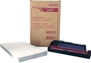 HiTi S420 Papel y cinta para 50 impresiones 4 x 6 87.P3304.03BV para impresoras S420