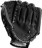 Tengcong Tech Guantes de béisbol Profesionales para atrapar Guante de béisbol Guantes de softbol para niños, Adolescentes, Adultos(Negro, 10.5)
