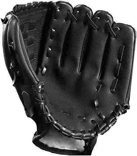 Tengcong Tech Baseball Handschuhe Sport & Outdoor Baseball Glove Batting Handschuhe mit einem Ball Softball Handschuhe für Kinder Erwachsene (schwarz, 11.5)