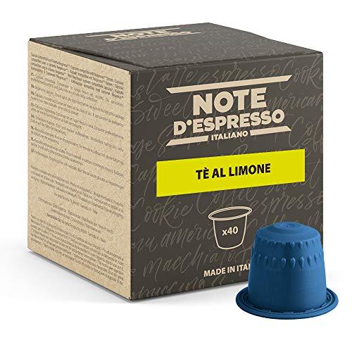 Note d'Espresso - Cápsulas de Té Limón - Compatibles con Cafeteras NESPRESSO* - 40 caps