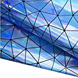ZAIONE Rolle 21 cm x 135 cm, holografisch, geometrisch,