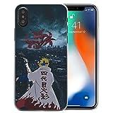 Anime Naruto Case for iPhone 6 6S 7 8 Plus X XS XR XS Max SE 2020 11 Pro Max Sasuke Itachi Minato Madara Rinenga Pain Black TPU Cellphone Covers (1, iPhone Xs Max)