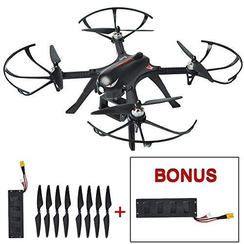 Mysterystone Bugs 3 RC Quadcopter Drone with 2 Batteries, 2 Extra Sets of Blades, Brushless Drone with GoPro Camera Mount...