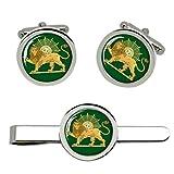 Giftshop UK Iraní León y el Sol Gemelos y Corbata Clip Set
